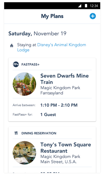 Image of Disney Mobile App